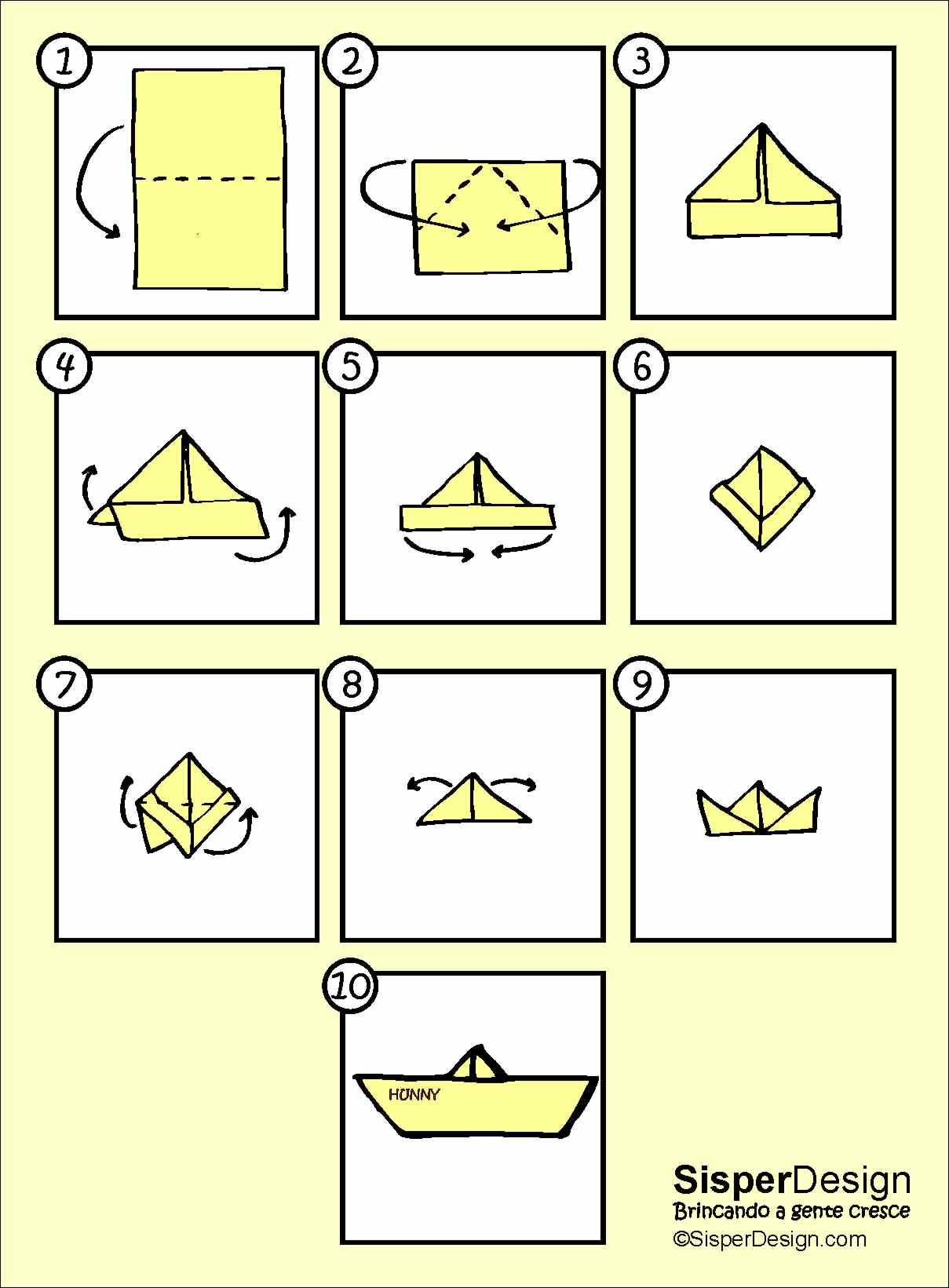 fazer barquinhos de papel uma brincadeira muito simples e divertida