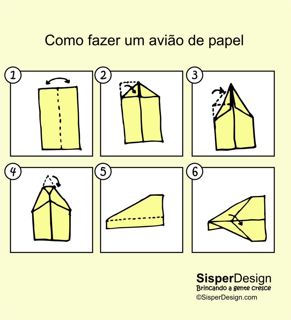 como fazer avi o de papel sisper divertido
